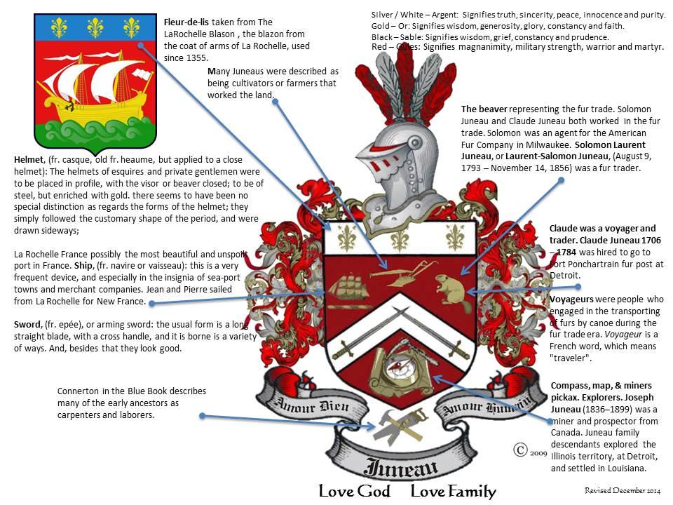 Coat Of Arms Juneau Family Usa Association